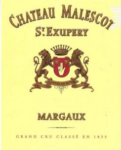 Château Malescot St-Exupéry - Château Malescot St-Exupéry - 2012 - Rouge