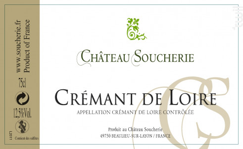 Crémant de Loire Blanc - Château Soucherie - Non millésimé - Effervescent