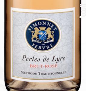 Perles de Lyre Brut Rosé - Simonnet Febvre - Non millésimé - Effervescent