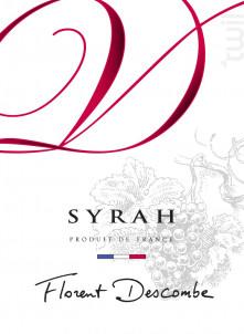 SYRAH - Vins Descombe - Non millésimé - Rouge