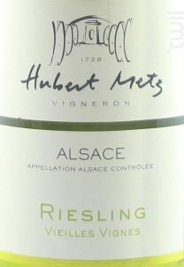 Riesling Vieilles Vignes - Domaine Hubert Metz - 2012 - Blanc