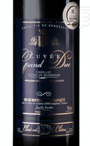 Cuvée Grand Duc - Berticot - 2012 - Rouge