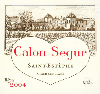 Château Calon Ségur - Château Calon Ségur - 2004 - Rouge
