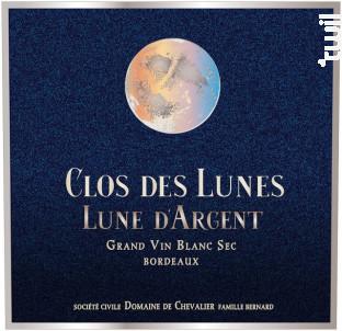 Lune d'Argent - Clos des Lunes - 2016 - Blanc