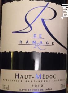 R de Ramage - Château Ramage la Batisse - 2010 - Rouge