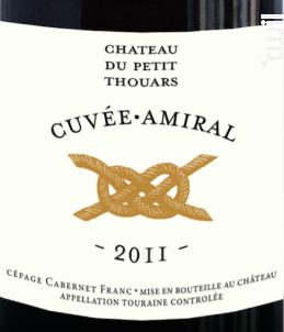 Cuvée Amiral - Château Du Petit Thouars - 2010 - Rouge