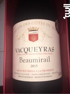 Vacqueyras Beaumirail - Gigondas La Cave - 2012 - Rouge