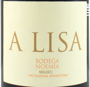 A Lisa Malbec - Bodega Noemia Patagonia - 2016 - Rouge