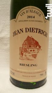 Riesling - Dietrich Jean & Fils - 2018 - Blanc