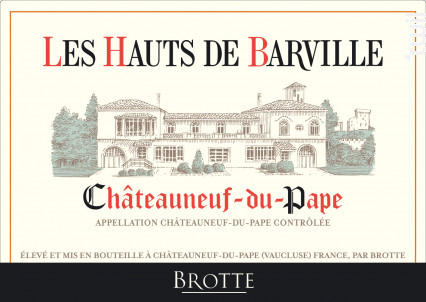 Les Hauts De Barville - Maison Brotte - Les Domaines - 2017 - Rouge