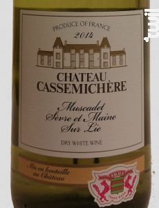 Muscadet Sèvre & Maine sur Lie - Château de la Cassemichère - 2015 - Blanc