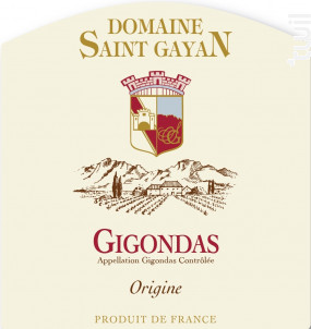 Origine - Domaine Saint Gayan - 2014 - Rouge