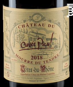 Cuvée Paul - Château du Mourre du Tendre - 2018 - Rouge