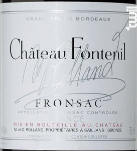 Château Fontenil - Château Fontenil - 2015 - Rouge