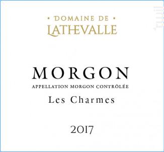 Domaine de Lathevalle - Les Charmes - Domaine de Lathevalle - 2017 - Rouge