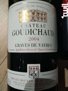 Château Goudichaud - Château Goudichaud - 2006 - Rouge