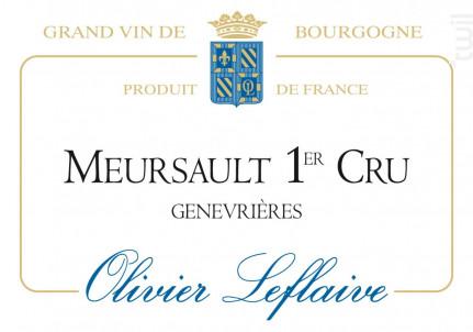 Meursault Premier Cru Genevrières - Maison Olivier Leflaive - 2013 - Blanc