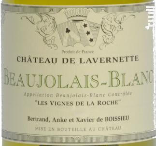 Les Vignes de la Roche - Château de Lavernette - 2018 - Blanc