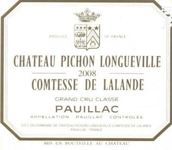 Château Pichon Longueville Comtesse de Lalande - Château Pichon Longueville Comtesse de Lalande - 2008 - Rouge