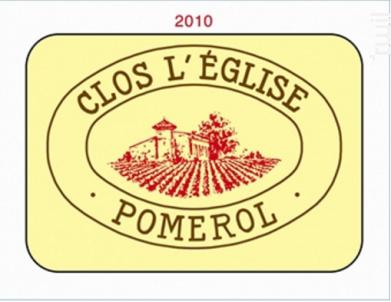 Clos l'Eglise - Vignobles Garcin- Château Clos de l'Eglise - 2009 - Rouge
