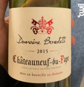 CHÂTEAUNEUF DU PAPE - Domaine Benedetti - 2015 - Rouge