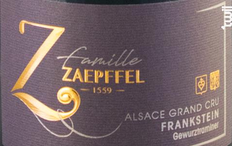 Gewurztraminer Grand Cru Frankstein - Famille Zaepffel - 2018 - Blanc