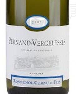 Pernand-Vergelesses - Domaine Rossignol-Cornu et Fils - 2014 - Blanc