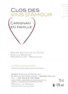 Carignan en Famille - Clos des Vins d'Amour - 2016 - Rouge