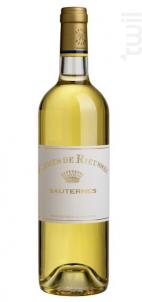 Carmes de Rieussec - Domaines Barons de Rothschild - Château Rieussec - 2011 - Blanc