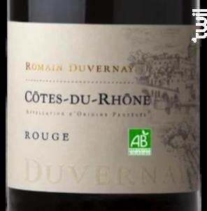 Côtes-du-Rhône Rouge - Bio - Romain Duvernay - 2016 - Rouge