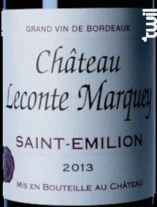 Château Leconte Marquey - Château le Conte Marquey - 2013 - Rouge