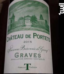 Château De Portets - Château De Portets - 2015 - Rouge