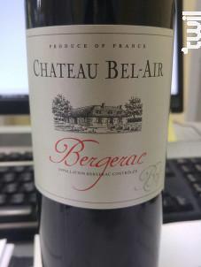 Château Bel Air - Producta Vignobles - Château Bel-Air - 2015 - Rouge