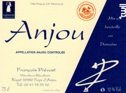Anjou - François Prévost - 2019 - Rouge