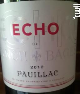 Echo de Lynch-Bages - Château Lynch-Bages - 2012 - Rouge