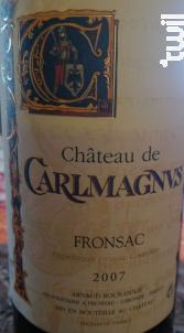 Château Carlmagnus - Château Carlmagnus - 2019 - Rouge