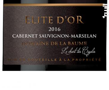 Elite d'Or - DOMAINE DE LA BAUME - 2016 - Rouge
