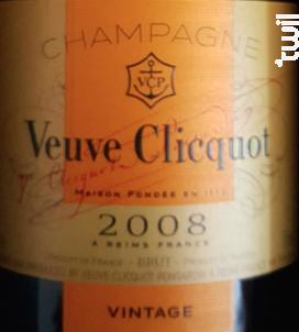 Vintage 2008 - Veuve Clicquot - 2008 - Effervescent