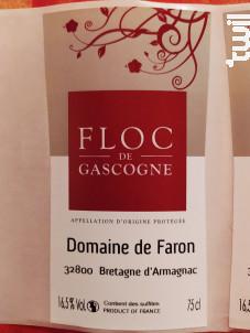 FLOC DE GASCOGNE ROSE - Domaine de Faron - Non millésimé - Rouge