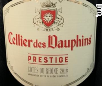 Prestige - Cellier des Dauphins - Union des Vignerons des Côtes du Rhône - 2018 - Rouge
