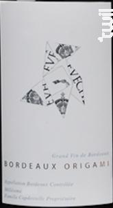 Bordeaux Origami - Château l'Évêché - 2016 - Rouge