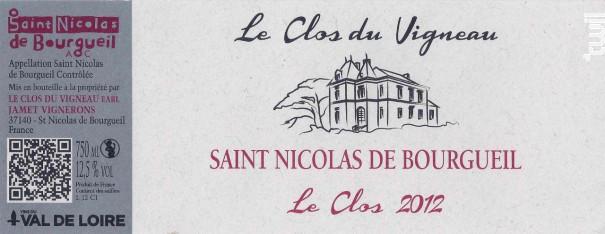 Le Clos - Le Clos du Vigneau - 2017 - Rouge