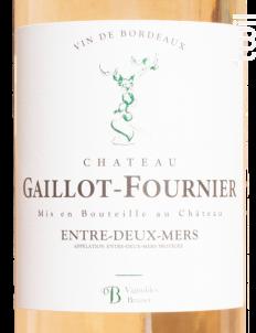 Château Gaillot-Fournier Entre deux Mers - Château Gaillot-Fournier - 2019 - Blanc