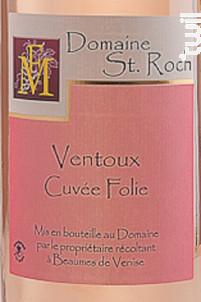 Cuvée Folie - Domaine Saint Roch - Non millésimé - Rosé