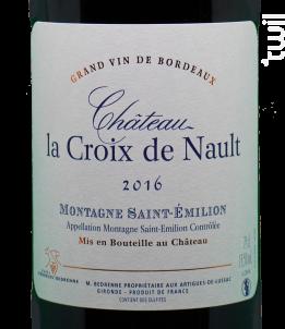 Château La Croix De Nault - Vignobles Bedrenne - 2016 - Rouge