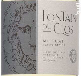 Muscat Petits grains - Domaine Fontaine du clos - 2018 - Blanc