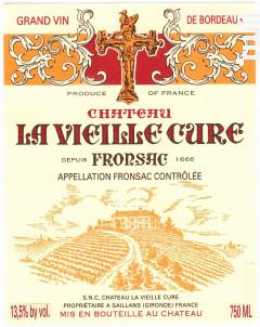 Chateau La Vieille Cure - Château La Vieille Cure - 1966 - Rouge