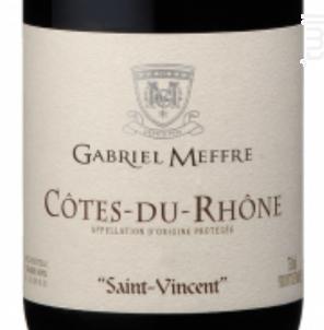 Saint Vincent - Maison Gabriel Meffre - 2017 - Rouge