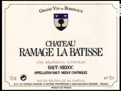 Château Ramage La Batisse - Château Ramage la Batisse - 2011 - Rouge