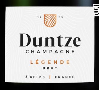 Brut Légende - Champagne Duntze - Non millésimé - Effervescent